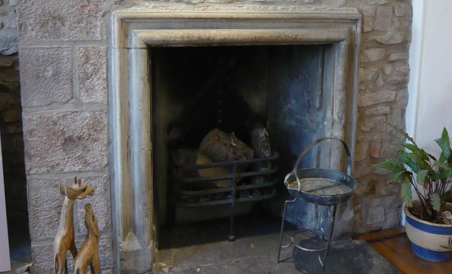 one of the ancient fireplaces